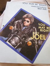YOU MAY BE RIGHT WORDS AND SHEET MUSIC by BILLY JOEL VINTAGE USED - $5.99