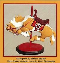 Bucking Carousel Horse by Barbara Snyder Bucking Bronco Horse Western Lr... - $39.59