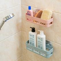 Bathroom Wall Mount Storage Rack Plastic Shelf Organizer Shower Corner H... - $12.99