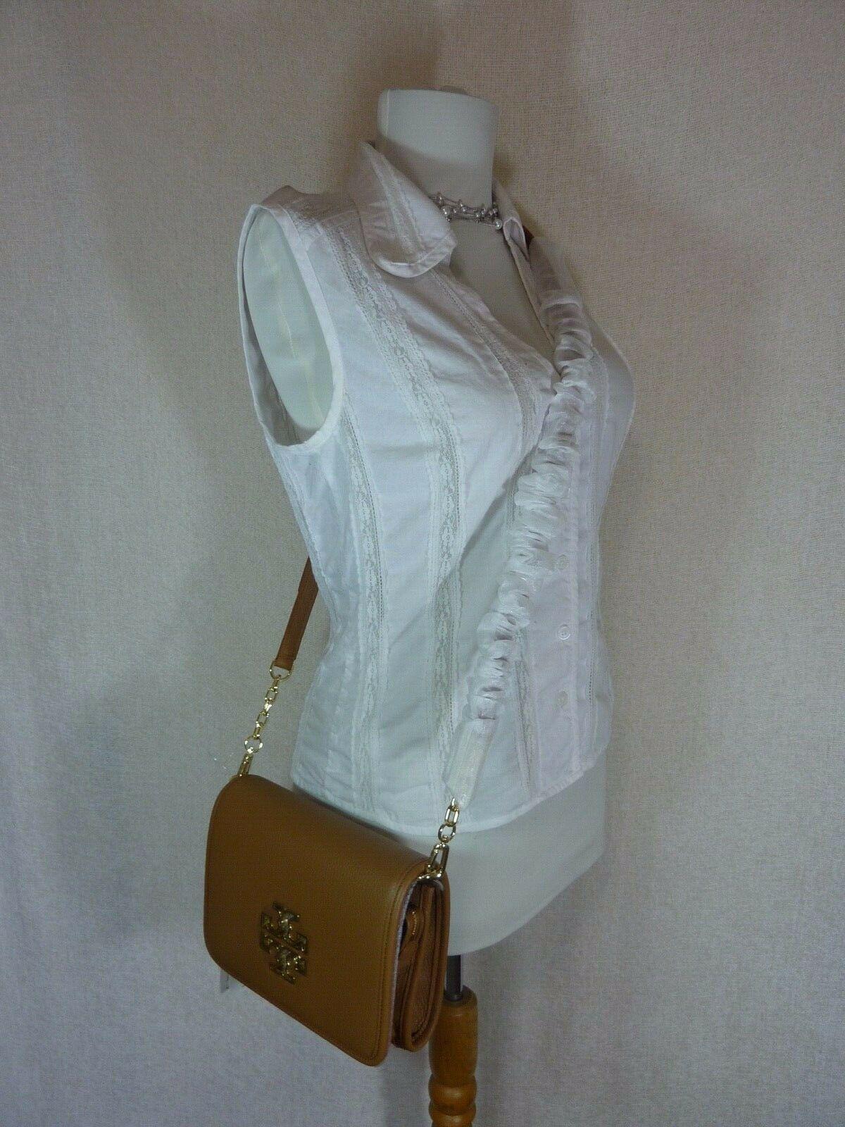 NWT Tory Burch Bark Leather Britten Combo Cross Body bag/Clutch  - $425 image 10