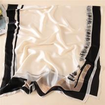 2018 luxury brand Women Silk scarf Beach Shawl and Echarpe Luxurious Wrap Design image 6