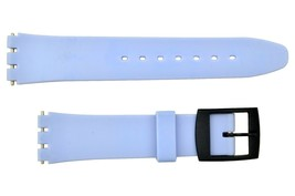 Swatch Replacement 17mm Plastic Watch Band Strap Light Blue - $9.45