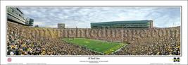 2010 NCAA College Michigan The Big House 28 Yard Line Panoramic Poster 5026 - $49.95+