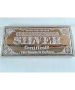 Washington Mint 1999 Half Pound Silver Certificate 8 Oz Bar .999 FINE Wi... - $199.99
