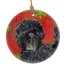 Caroline's Treasures SS4718-CO1 Affenpinscher Red Snowflakes Holiday Chr... - $22.92