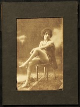 1910s image Vintage ArchiveSexy Beauty Risque print Estate Stockings Hee... - $9.89