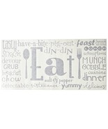"""Eat Phrases Vinyl Lettering Wall Decal Sticker 21""""H x 46""""L, Black - $33.81"""