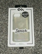 Case-Mate Squish Me Phone Cover Case for iPhone 8/7/6s/6 Clear w/ Glitte... - $9.49