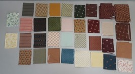 Andover Fabric Ends Remnant Lot Mixed Primative Look - $34.65