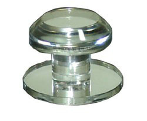 Clear Acrylic Stick-On Beveled Face Mirror Round Knob - $17.95
