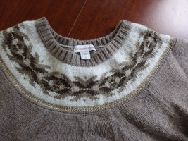 Coldwater Creek Wool Blend Pullover Knit Sweater  SZ L - $8.59