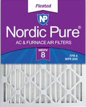 Nordic Pure 16x20x2 Pleated MERV 8 Air Filters 3 Pack - $27.63