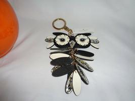 KATE SPADE LEATHER OWL KEY FOB BAG CHARM RING HANDBAG JEWELRY  - $34.16