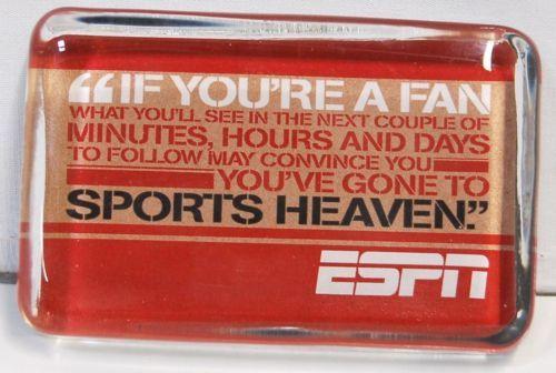 Hallmark 1ESP7629 ESPN Sports Theme Paperweight Multi Color