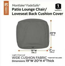 "Classic Accessories Montlake FadeSafe Cushion Slip Cover - 19""W x 20""H x 4""T image 4"