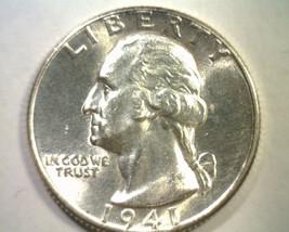 1941 WASHINGTON QUARTER UNCIRCULATED UNC. NICE ORIGINAL COIN BOBS COIN F... - $15.00