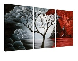 """Wall Art Picture Print Canvas Framed Home Hang Decor Gift 3 Pcs 12x16"""" L... - $27.71"""