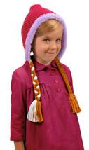 Walt Disney's Frozen Anna Deluxe Knit Snow Cap Hoodie Hat and Braids, NEW UNUSED - $15.44