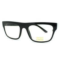 Unisex Rectangular Eyeglasses Classic Clear Optical Lens Frame BLACK - $9.85