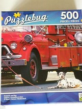 New PUZZLEBUG 500 PIECES   Firetruck and Dog - $7.00