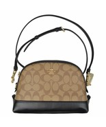 Coach Womens F76674 Signature Dome Crossbody Bag, Khaki/Black, 8105-6 - $295.02