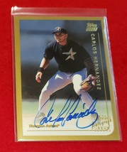 CARLOS HERNANDEZ - 1999 Topps Traded Autograph #T4 HOUSTON ASTROS ROOKIE... - $1.99