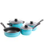 Gibson Home Casselman 7 piece Cookware Set in Turquoise - €42,15 EUR