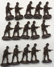 1984 - 1987 Axis & Allies Board Game Pieces - 15 Dark Brown Infantry USS... - $7.83