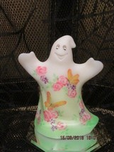 Fenton Glass Roses & Butterflies Ghost Le #4/10 Gse Signed By Frances Burton - $225.00