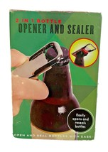 2 In1 Bottle Opener And Sealer Easily Opens And Reseals Bottle Caps New ... - $5.67