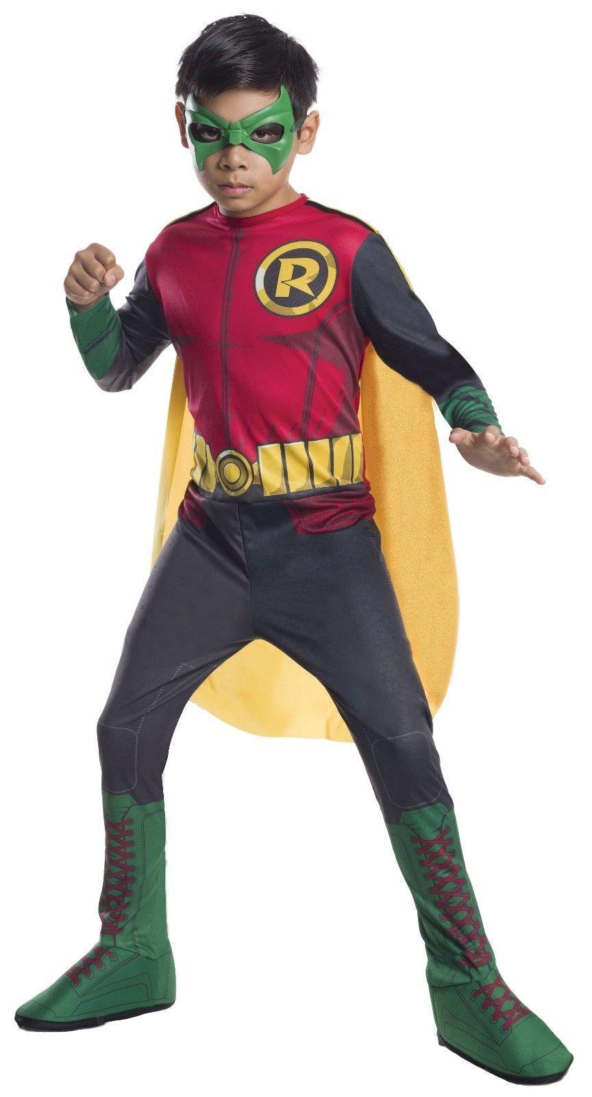 Rubini Robin Dc Comics Batman Gotham Bambino Ragazzi Costume Halloween 610828