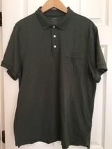 Mens XL Army green J Crew Polo Shirt Short Sleeve 100% Cotton - $22.76