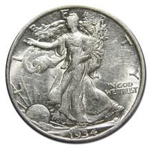 1934D Walking Liberty Half Dollar 90% Silver Coin Lot# MZ 3174