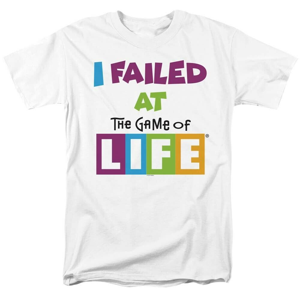 Game of life i failed t shirt classic retro 70s 80s toys graphic printed tee white