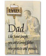 FATHERS DAY GIFT FOR DAD SAW AND HAMMER SHAPE LAPEL PIN WITH SAINT JOSEP... - $10.53