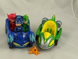 PJ Masks Figures Blue Green Vehicles Lot Just Play - $12.95