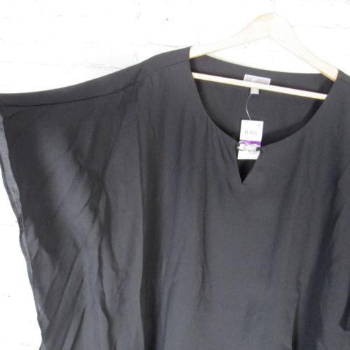 JM Collection Shirt Top Blouse Womens XXL Black C84