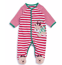 Little Me My First Christmas Reindeer Footie Outfit or Sleepwear 3 Month... - $12.87