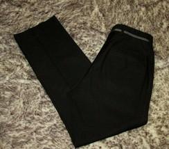River Island Dress Pants Size 32x30 Flat Front Mens Black Polyester Blend - $12.86