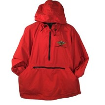 Disney Soarin over California Windbreaker Pullover Hoodie Embroidered Logo XL - $41.58