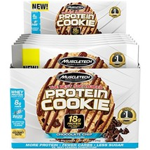 MuscleTech Soft Baked Whey Protein Cookie, Chocolate Chip, Gluten-Free, ... - $19.75