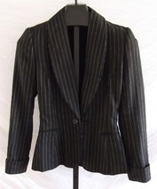 Ralph Lauren Collection Purple Label Black Pin Striped Jacket Blazer Siz... - $148.50
