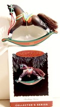 HALLMARK ROCKING HORSE 1994 14TH IN SERIES KEEPSAKE ORNAMENT CHRISTMAS NIB - $4.94