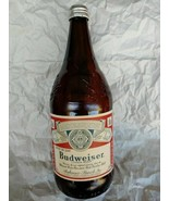 budweiser collectible 1 quart beer bottle amber - $34.95