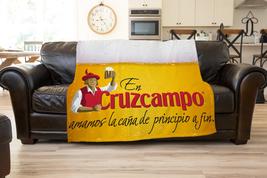 Cruzcampo Beer Logo Fleece Blanket Ultra soft Gift Cozy Blanket  Comfort... - $34.99+