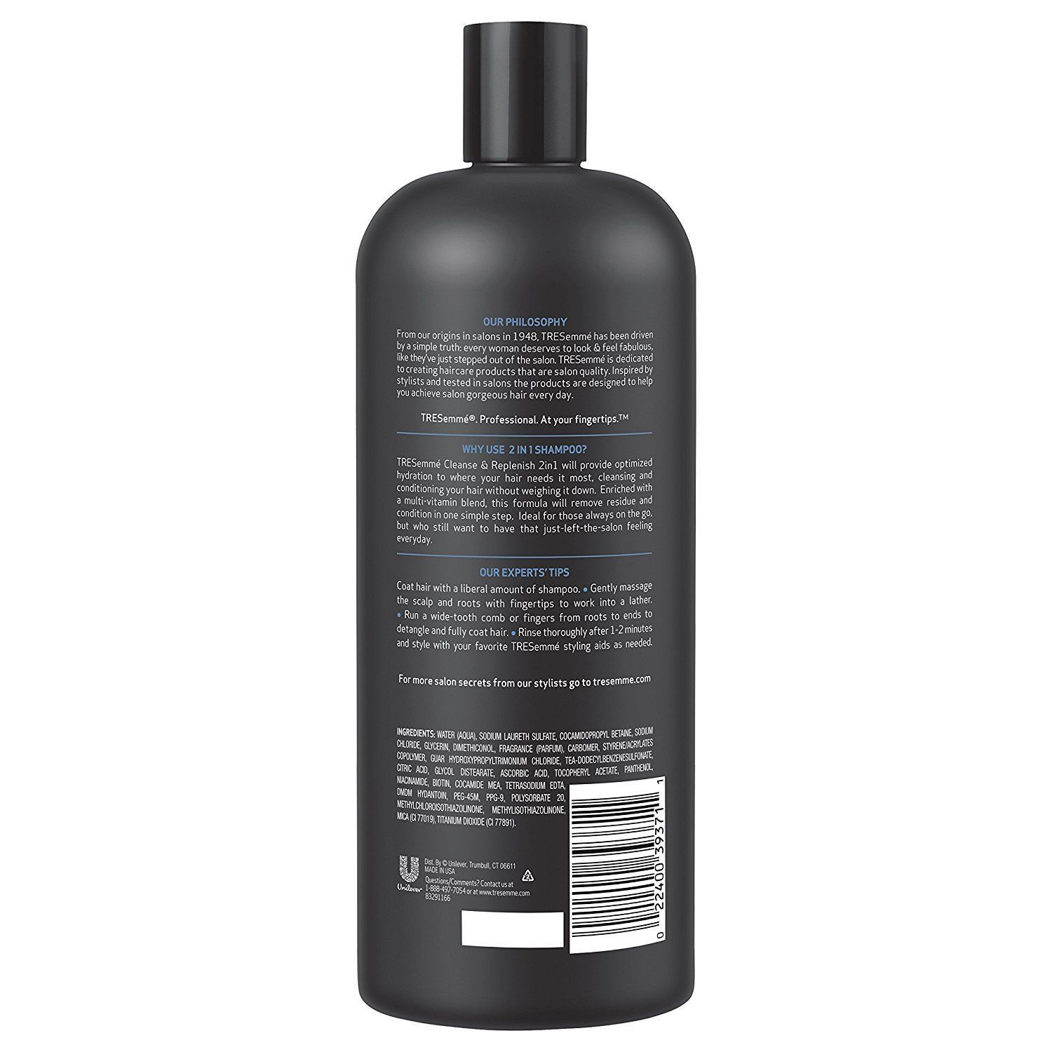 TRESemme Cleanse & Replenish 2 in 1 Shampoo Conditioner Anti-Breakage Hair 28oz