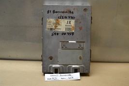 1981 Pontiac Bonneville Engine Control Unit ECU 1224770 Module 59 9J1 - $9.89