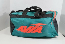 Vintage Avia New Spell Out Shoulder Mini Duffel Bag Gym Back Green Polye... - $21.73