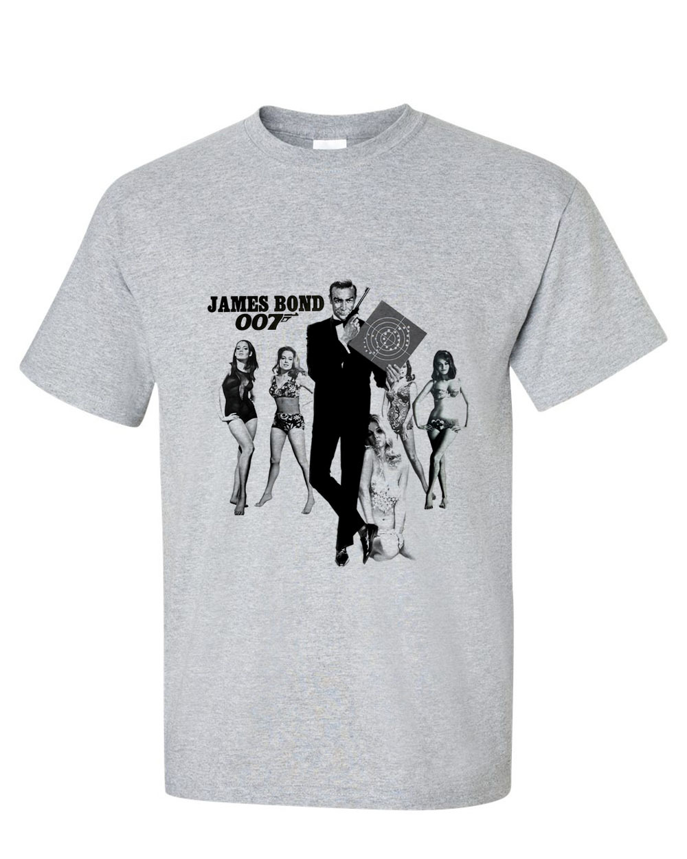 0625e7898 James bond 007 sean connery t shirt retro vintage action movie tee for sale  online store. 1 of 3