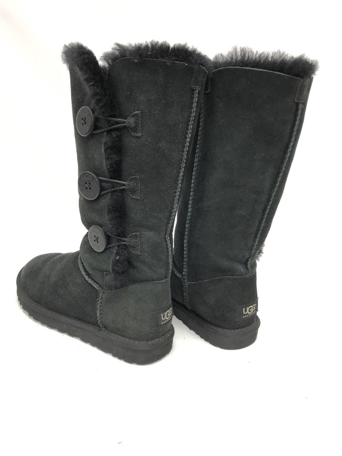 Details about UGG DRY LEAF BAILEY BOW SUEDE SHEEPSKIN BOOTS, WOMENS US 7 EUR 38 ~NIB